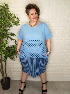 vestido low cost azul